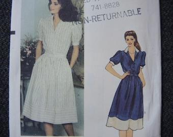 vintage 1980s Vogue sewing pattern 7970 misses dress size 12 UNCUT