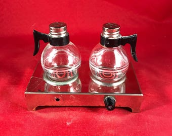 Coffee Pot Stove Eye Shaker Set - Vintage Salt and Pepper - Kitschy Kitchen Shakers