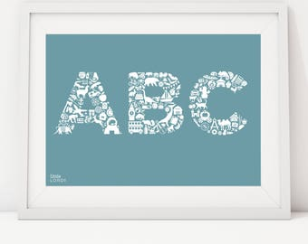 ABC alphabet print