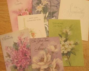 7 Vintage sympathy cards