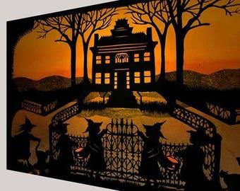 Haunted House Print