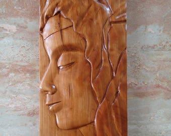 Pieta wood carving - Mary wood sculpture - Religious wood carving - Hand carved sculpture - Wall decor - Michelangelo Pieta Carving, Artwork