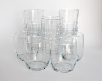Awesome 10 And 14 Ounce Clear Vintage Rocks Glasses   Cocktail Glasses, Mismatched  Glassware, Glass