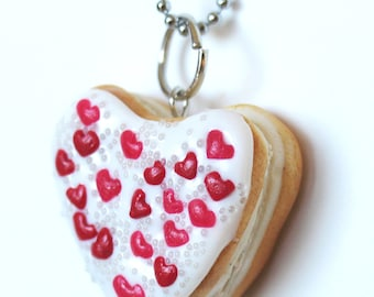 Heart Donut Charm Necklace - Donut Necklace - Heart Donut - Doughnut - Heart Necklace - Valentines Day Jewelry - Valentines Day Gift