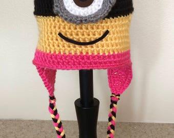 Crochet Girl Minion Hat