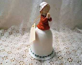 Holly Hobbie  Designers Collection  Christmas Blessings figurine Bell 1980