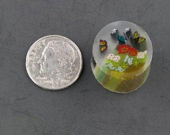 Le jardin des papillons par Greg Chase Murrine Boro canne 9 grammes - 125 H