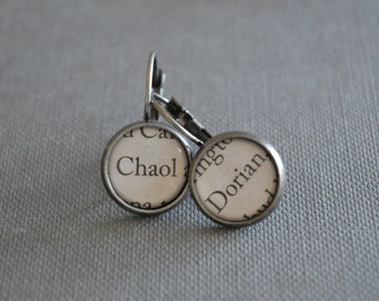 Dorian and Chaol Throne of Glass earrings