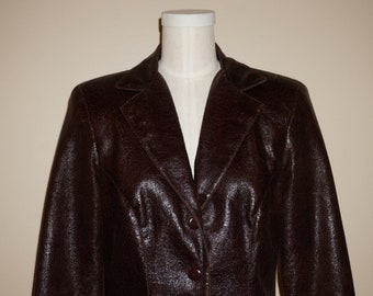 Vintage 2000 Betsey Johnson Aubergine Tailored Blazer Sz S