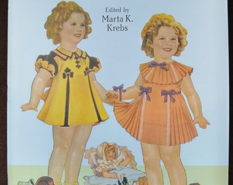 Authentic Shirley Temple Paper Dolls And Dresses | 1991 Dover Publications Inc. | Uncut Vintage Paper Dolls | Children's Craft Book
