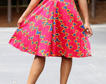 Knee length fashion dress/African style dress /African fashion summer dresses