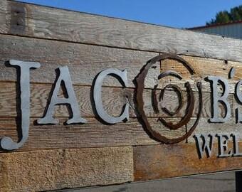 LOGO Brand Corporate Branding Restaurant Sign Steel Wood Business Decor Trade Show Expo Exhibit