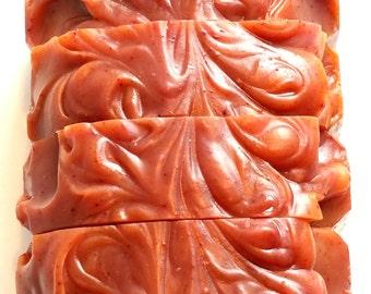 Cinnamon Soap, Natural Soap, Babassu Oil, Soap, Cold Process Soap, Artisan Soap, Natural Soap Colorants, Cinnamon Essential Oil