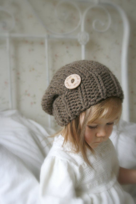 KNITTING PATTERN basic chunky slouchy hat Aine (baby to adult sizes ...