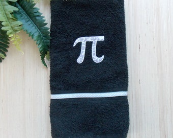 Pi Hand Towel - Nerd Bathroom Decor - Math Geek Bath Decor - Science Bath Decor- Pi Day Decor