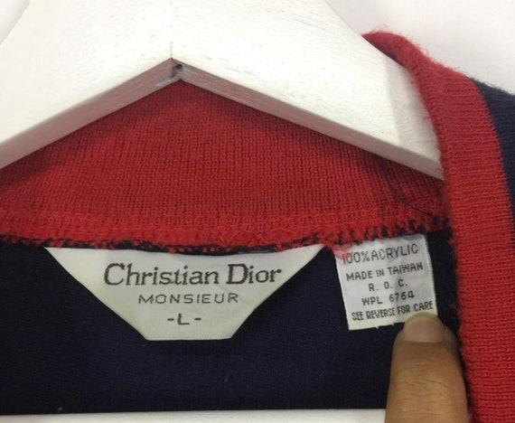 Christian small sweater casual vintage embroidered logo luxury Dior jacket 80s jacket dior Rare 6tYqwdd
