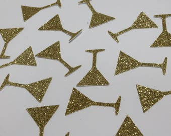 50 ct. Martini Glass Confetti - Bachelorette Party - Bridal Shower - Cheers - Wedding