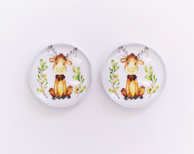 The 'Micah' Glass Earring Studs