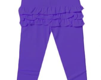 Ruffle Bum Leggings Baby and toddler ruffle bum pants - purple