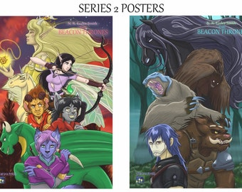 Beacon Thrones Poster Collection, x2 A3 Wall Posters (Allies & Enemies)