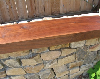 Walnut Fireplace mantle solid wood slab