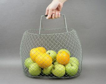 basket, metal basket, basket picnic, basket for fruit, bag fruit, foldable basket, basket for shopping, vintage basket, mesh basket