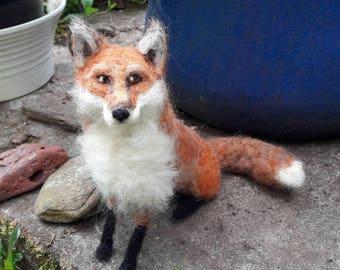 OOAK needle felted fox