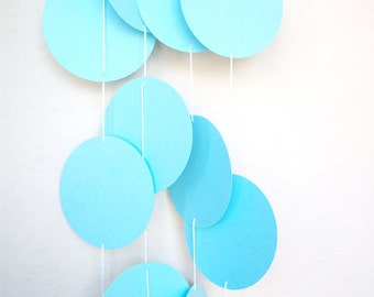 Baby Shower Blue Garland Circles Pastel Easter Spring Birthday Party Adjustable