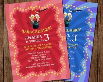 Magic Party Invitation, Magic Birthday Invitation, Magic Invitation Printable, Magic Digital Invite, Girl Magic Party, Boy Magic Party