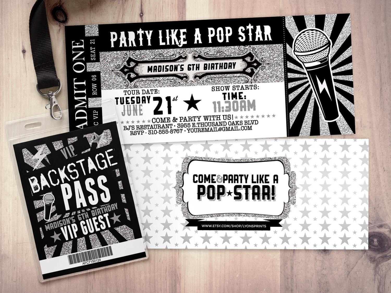 concert invitations - Ideal.vistalist.co