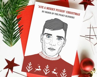 Peaky Blinders Funny Christmas Card 'Ave a Merry Fuckin' Christmas' Tommy Shelby