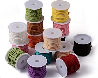 Faux Suede Cord - Sold per spool - Please choose a color!