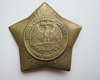 Star Sheriff police toy badge
