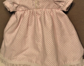 18 inch doll flannel nightgown for American girl doll