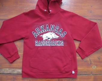University Arkansas Razorbacks Hoodie Sweatshirt Adult Mens Small