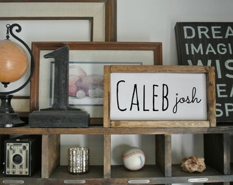 Personalized Name Art, Name wood frame, Personalized Sign, Family wood frame, Rustic frame, Rustic Decor, Rustic Frame, Holiday