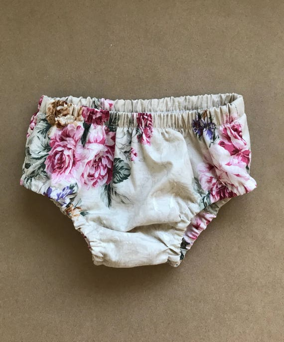 Floral Bloomers, Diaper Cover, Bloomers, Baby Girl Bloomers, Baby Bloomers, Rose Bloomers, Toddler Bloomers, Baby Shower Gift