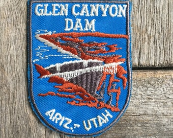 Glen Canyon Dam Arizona-Utah Arizona Vintage Souvenir Travel Patch from Voyager