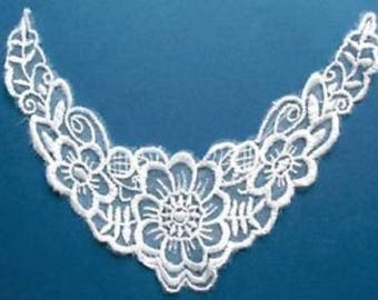 APPLIQUE lace fabric: collar flower 180 * 60mm
