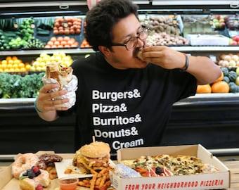 Unhealthy Vegan Apparel/Foodie List Shirt
