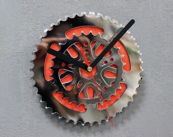 Wall bike clock Sun