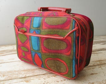 Mid Century Mod Carry On Small Suitcase