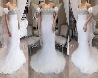 Robe corset de SAILOR MOON néo Queen Serenity Selene de Viollet - Cosplay, robe de mariée
