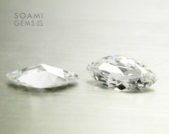 Loose Cubic zirconia white, 3x6, 4x8, 5x10, 6x12, 7x14 mm marquise cut  cubic zirconia faceted gem