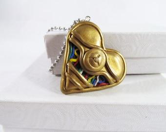 Star wars  heart C3PO necklace star wars C-3PO droid necklace Star wars gift jewelry necklace
