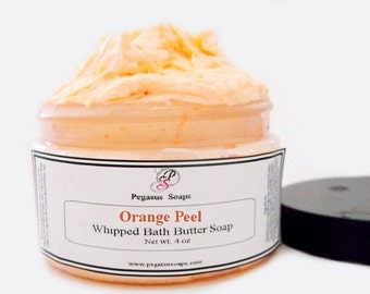 Orange Peel Whipped Bath Butter Soap 4 oz