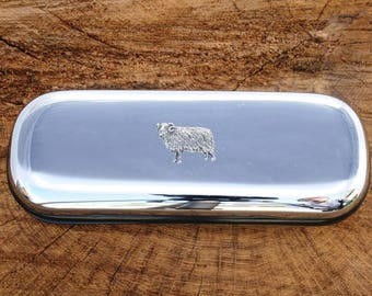 Aries Ram Design Metal Glasses Spectacle Case Astrology Gift FREE ENGRAVING