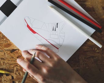 Sneakers Coloring Book - designer coloring book for graphic design & sneaker lovers