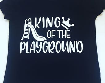 King Of The Playground Tee Shirt, Kids Back To School Shirts, Playground TShirts, Back To School Shirts, First Day Of School Shirts