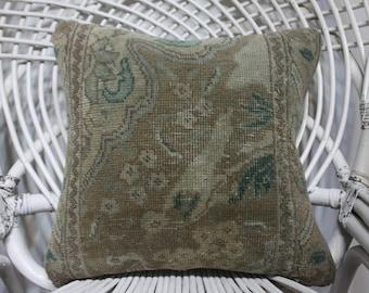 16x16 distressed pillow faded pillow home decor bedding sham 40x40 cm kilim pillows turkish vintage pillows cushion cover throw pillows 4867